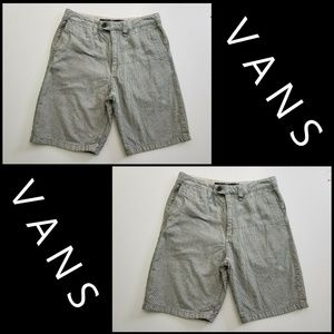 Vans Men Flat Front Short Gray Size 30